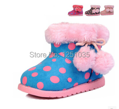 Winter female baby antiskid soft bottom toddler shoes 0 and 1 year old baby warm cotton shoes children's warm shoes