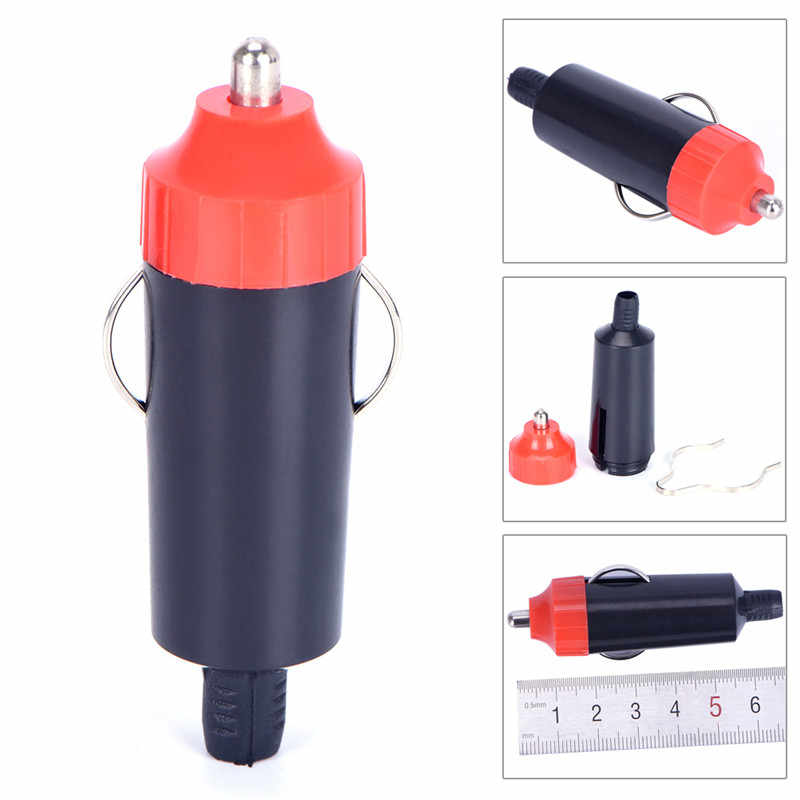 1pc 12V Male Car Cigarette Lighter Socket Plug Motorcycle Socket Power Charger Adapter Connector + Fuse Converter Plug Hot Sell