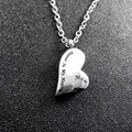 Collar de Corazón de Acero Inoxidable 316L Cremación Urna Memorial Collar Medallón Colgante de Joyería Para Hombres de Las Mujeres de Ceniza de Hueso Colgante N-160