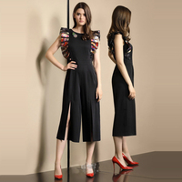 Yeni 2018 yaz yıldız gösterisi elbise moda kadın zarif siyah vücut uzun vücut kuponlar