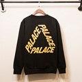 Palácio skates homens hoodie das mulheres de alta qualidade 100% algodão hip hop orange letras camisola palácio yeezy hoodies y-3