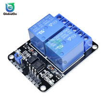 цена на 5V 2 Channel Relay Module Low Level Triggered 2 Way Relay Module with Optocoupler Expansion Board for Arduino