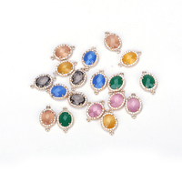 Mix Crystal Quartz Faceted Beads Colorful Glass Crystal Teardrop Shape DIY Jewelry Making Bracelet Necklace Connector