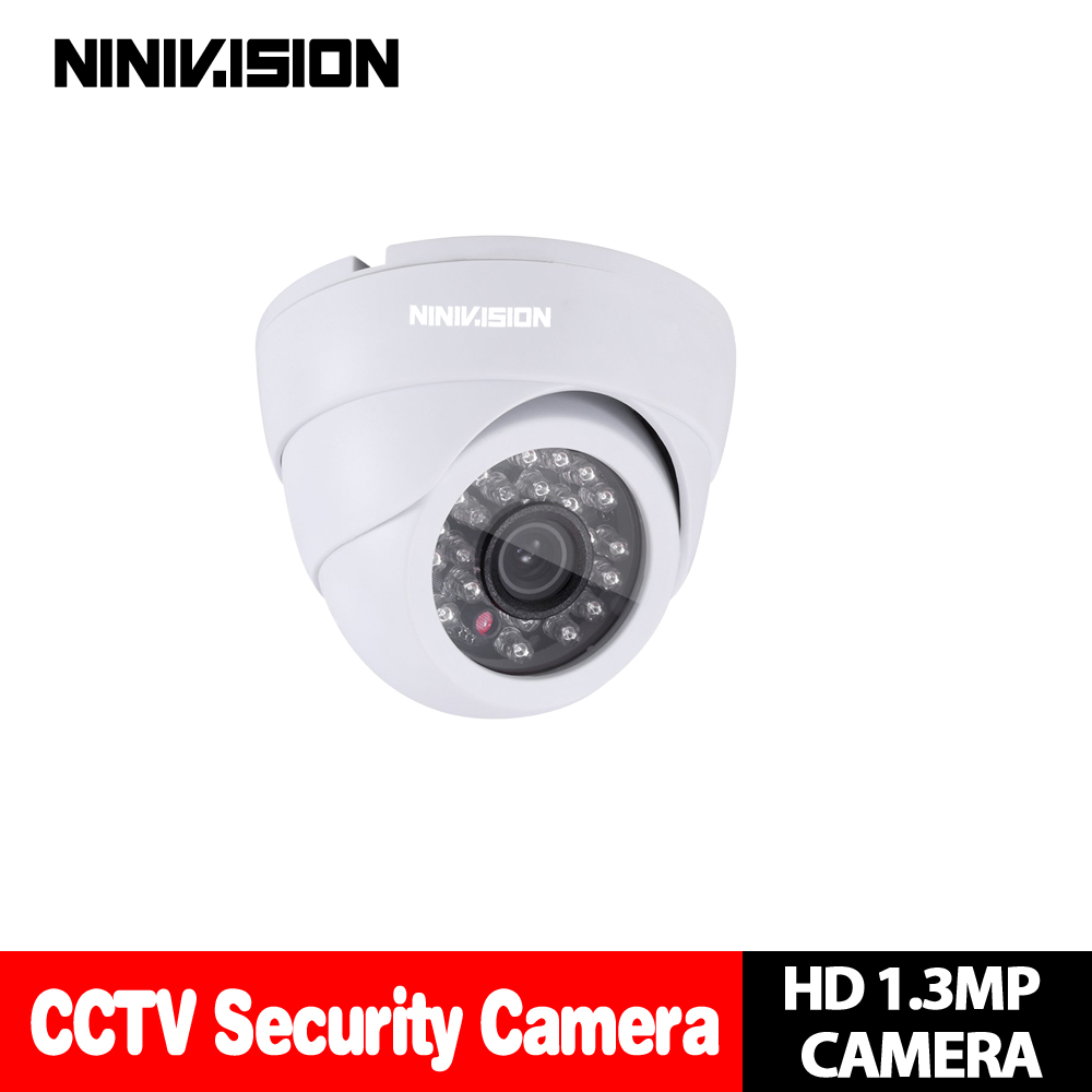 White Dome 960P 2500TVL High Resolution 24pcs LED Indoor Outdoor AHD Camera Analog High Definition With IR-Cut Filter free shipping 960p 1 3mp ahd analog high definition ir 30m 2pcs array led ir dome camera for 500m coaxial cable