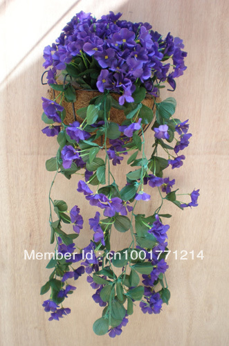 Wholesale 8 stems hydrangea flower garlands hanging flower wholesale 8 stems hydrangea flower garlands hanging flower artificial silk flower trailing plants imitaion plants mightylinksfo Choice Image