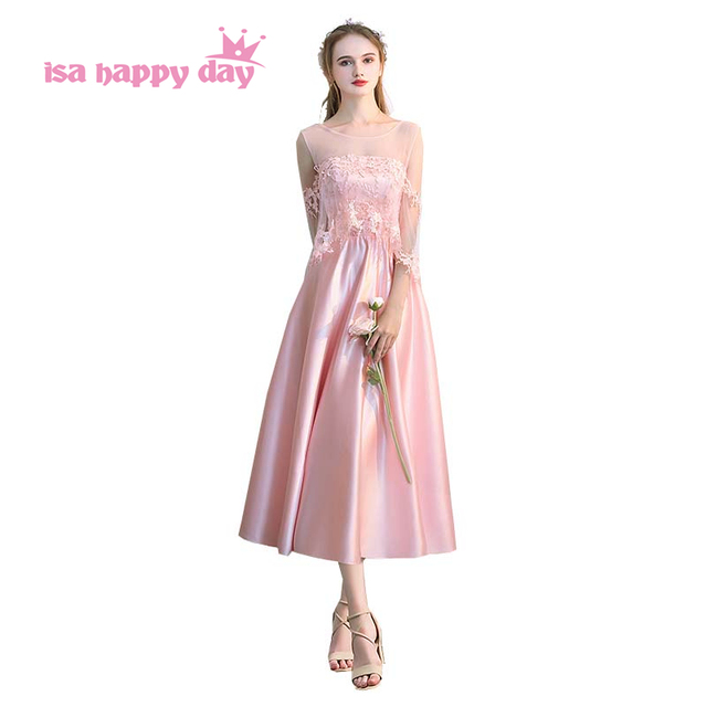 3f2dc29a6c95a girls petite formal robe de fitted prom pageant dresses satin party dress  light pink short for teens new arrival 2018 H4177