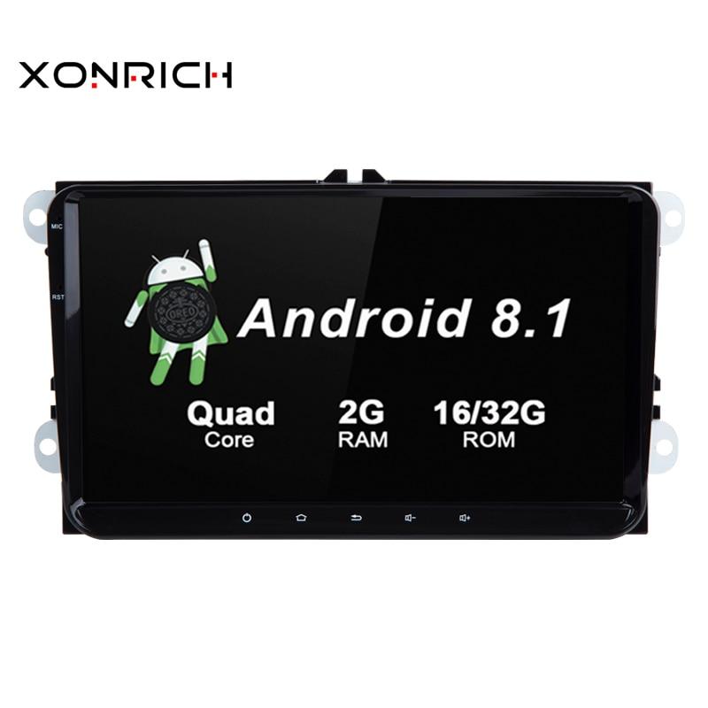 Android 8.1 Auto stéréo Radio GPS voiture pas de lecteur DVD pour koda/Octavia/Seat/VW/CC/PASSAT B6 B7 Golf 5 6 RAM 2 GB 4 Core