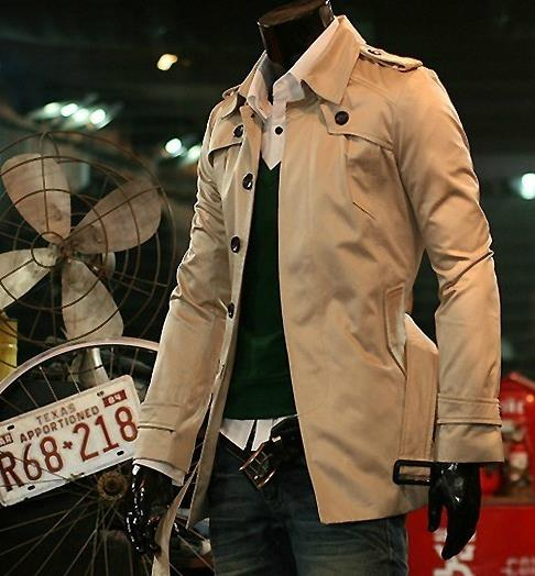 Trench Coat Men Brown Promotion-Shop for Promotional Trench Coat