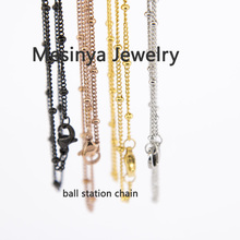 4 Colors 10pcs 30 316L Surgical Stainless Steel Ball Station Chain Necklace For Floating Charm Glass Locket
