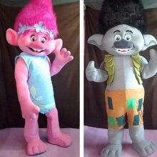 fed7247ee3d501 2017 Nieuwe Hot Trolls Mascotte Kostuum-Trolls-Compleet Volwassen Outfit-Mascotte  Parade Kwaliteit Clowns Verjaardagen Troll Gra.