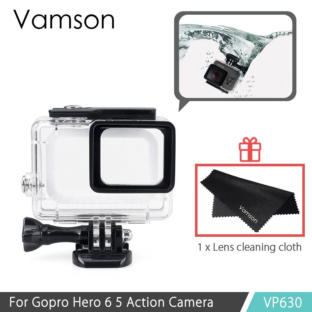 Vamson für Gopro Hero 6 5 Zubehör Wasserdichte Schutz Gehäuse Case Tauchen 45 Mt Schutzhülle Für Gopro Hero 6 5 Kamera VP630