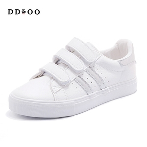Image 3 - Women Sneakers Leather Shoes Trend Casual Flats Sneakers Female New Fashion Comfort Stiped Breathable Style Vulcanized Shoes
