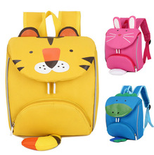Children Kids School Bags Cute Animals Backpack Cartoon Tiger Dinosaur Rabit School Backpacks for Kindergarten Boys Girls