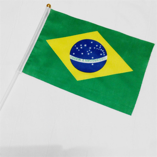 Hand Flags of the country world With Poles  Word Cup 32 Countries Small bandeir Team banderas for Football Club soccer Fans