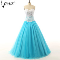 Vnaix P1115 Puffy Sweetheart Blue Ball Gown Tulle Prom Dress