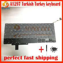 """A1297 Turkish TR TY keyboard for macbook pro 17"""" A1297 Turkey keyboard without backlight backlit 2009 2010 2011year"""