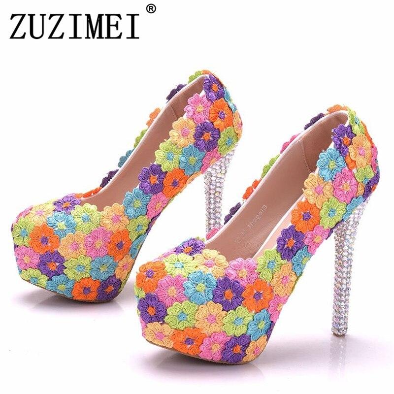 Embrayages 14 Parti Chaussures Multi Pompes Multicolore Femmes Sacs Talons Cm Mariage De Hauts Brillant Cristal Assorties Fleur gvRZvzCW1