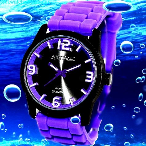 FW848I Water Resist Silicone Violet Band Boy Girl 100% Tested 3ATM Fashion Watch