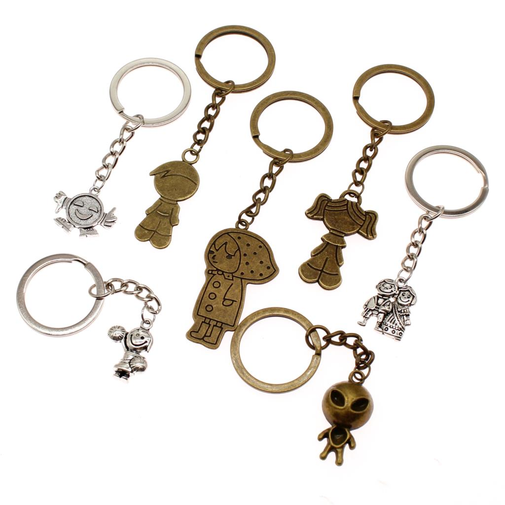 New Fashion Couple Keychain Keyholder People Key Rings DIY Creative Car For Phone Boyfriend