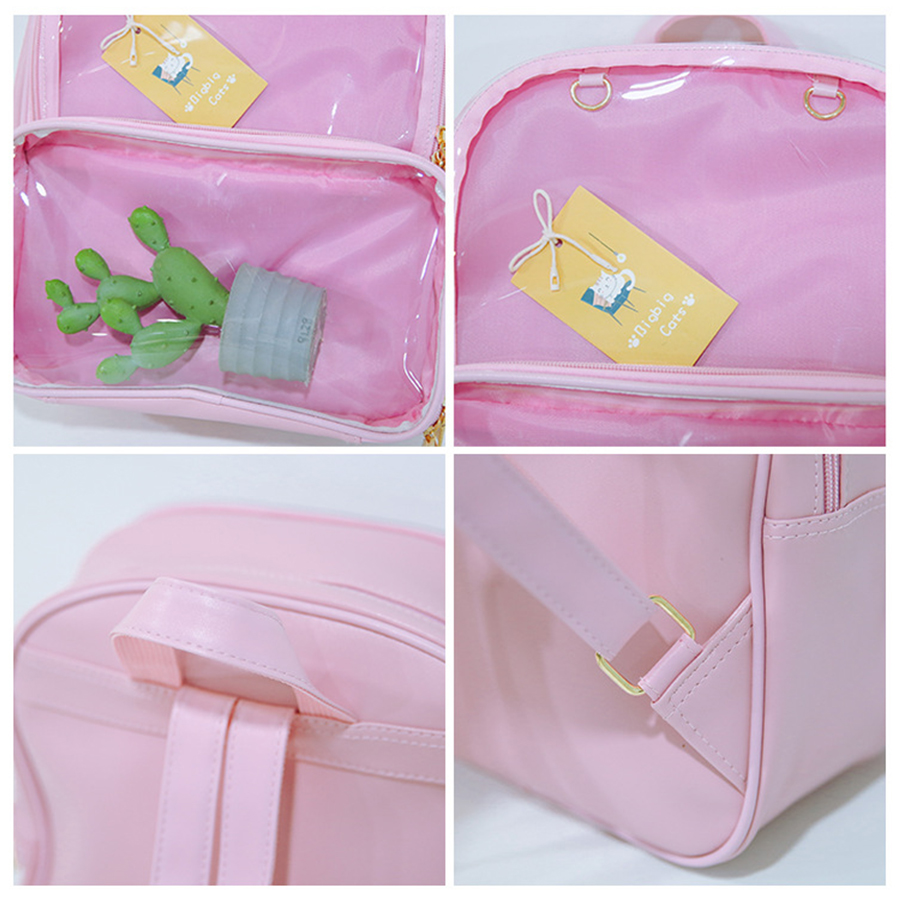 Cute Clear Transparent Women Backpacks Pvc Jelly Color Student Schoolbags Fashion Ita Teenage Girls Bags For School Backpack New #6