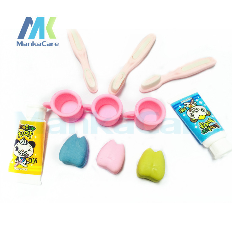 40 Pcs Special Cute Tooth+Cup+Toothbrush+Toothpaste Mini  Rubber Eraser Kid Toy Stationery School Supplies Dental Clinic Gift