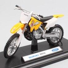 Детские 1:18 весы Welly мини Suzuki RM250 мотокросса мотоцикл литья под давлением эндуро внедорожных Трейл модель игрушка миниатюрная