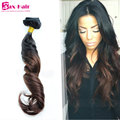 Two Tone Clip In Human Hair Extensions Ombre Clip In Hair Extensions 8A Brazilian Virgin Human Clip In Hair For Black Women Sale
