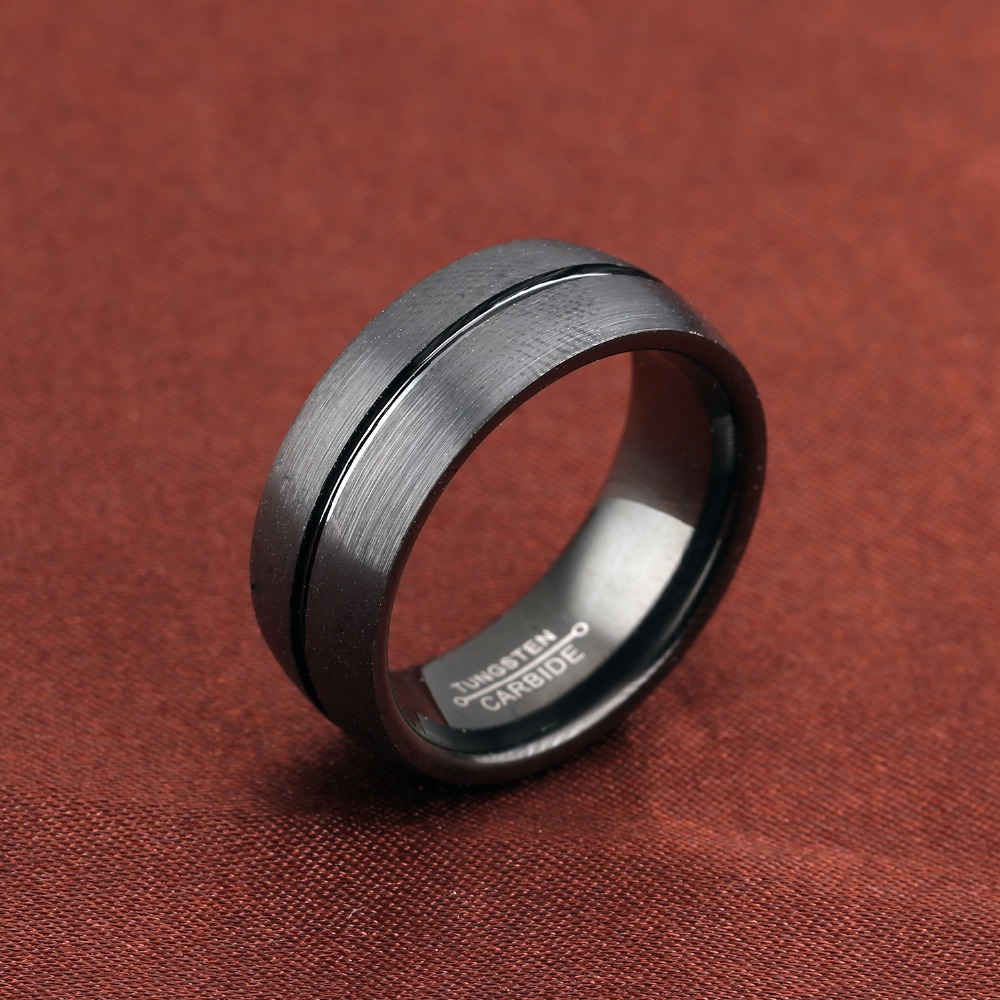 pls contact us before you leave neutral or negative feedback about vintage rings black tungsten ring for men tungsten wedding - Mens Tungsten Wedding Ring