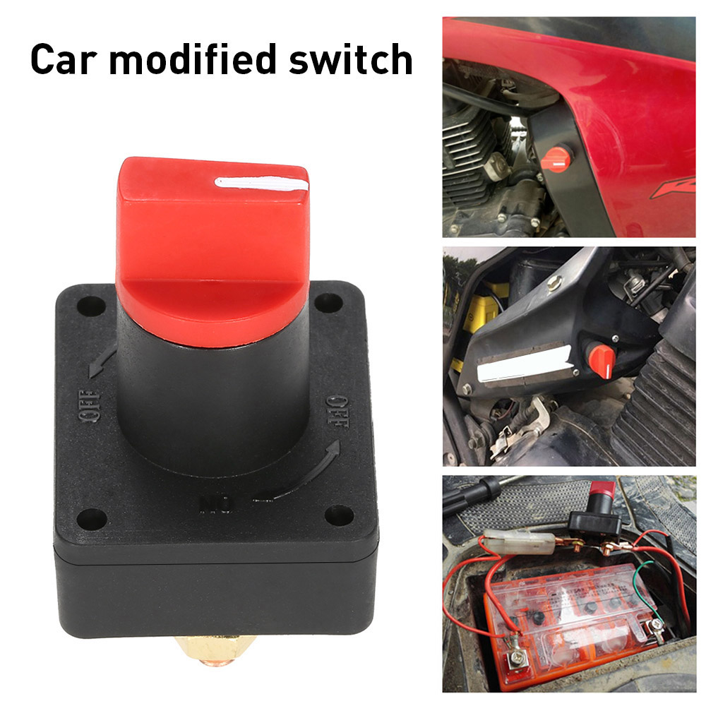 TR.OD 100A Red Black Battery Master Disconnect Rotary Cut Off Isolator Kill Switch Car Van Boat