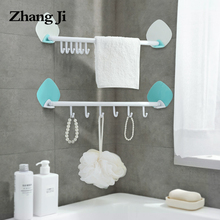 ZhangJi Kitchen Self-Adhesive Hook Rack Door Wall Corner Shelf 6 Hooks Removeable No Drill Bathroom Organizer Hanger Holder