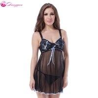 DangYan Sıcak satış sexy lingerie perspektif dantel pijama erotik lingerie plus size gecelikler erotik kadınlar için giysileri