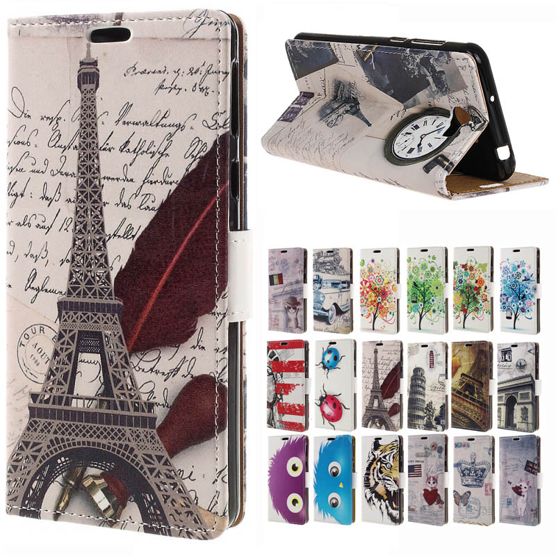 For Huawei Y6 II mini Compact case pattern PU Leather Wallet Flip Stand Cover Case For Huawei Y6 II Compact 5.0 inch Phone coque