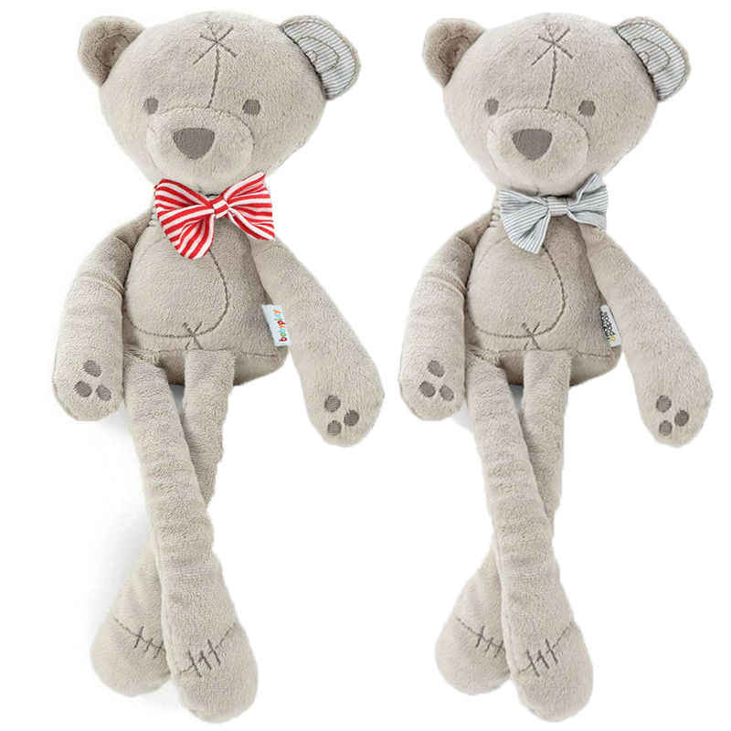 2019 Newest Hot Soft Long Feet Bear Plush Toy Animal Bowtie Bear Stuffed Baby Kids Toddlers Doll