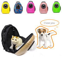 2017 Creative Pet Dog Cat Capsule Breathable Cage Portable Out Pet Cat Kit Dog Bag Double