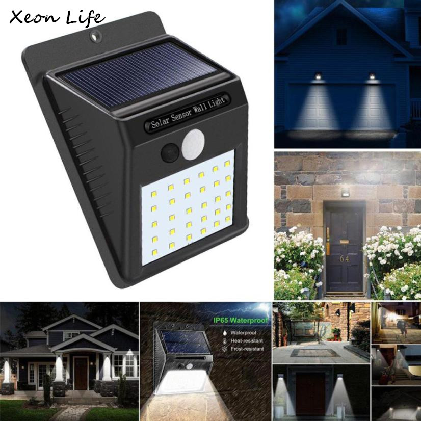 Us 13 08 35 Off 2pcs 30 Led Solar Ed Wall Light Motion Sensor Outdoor Garden Security Lamp Bags Of Installing S Sheds Storage In