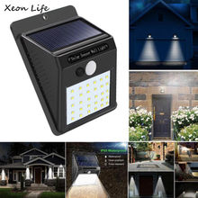 2pcs 30 LED Solar Powered Wall Light Motion Sensor Outdoor Garden Security Lamp Bags of Installing Screws Sheds Storage(China)
