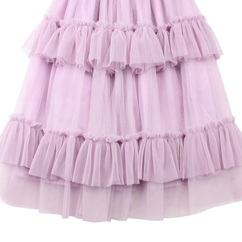 0 14Y Summer Autumn Girls Kids Long Pink Tutu Skirt with Cotton Lining Ruffle Girl Skirts Princess Long Pleated Pettiskirt Tutus in Skirts from Mother Kids