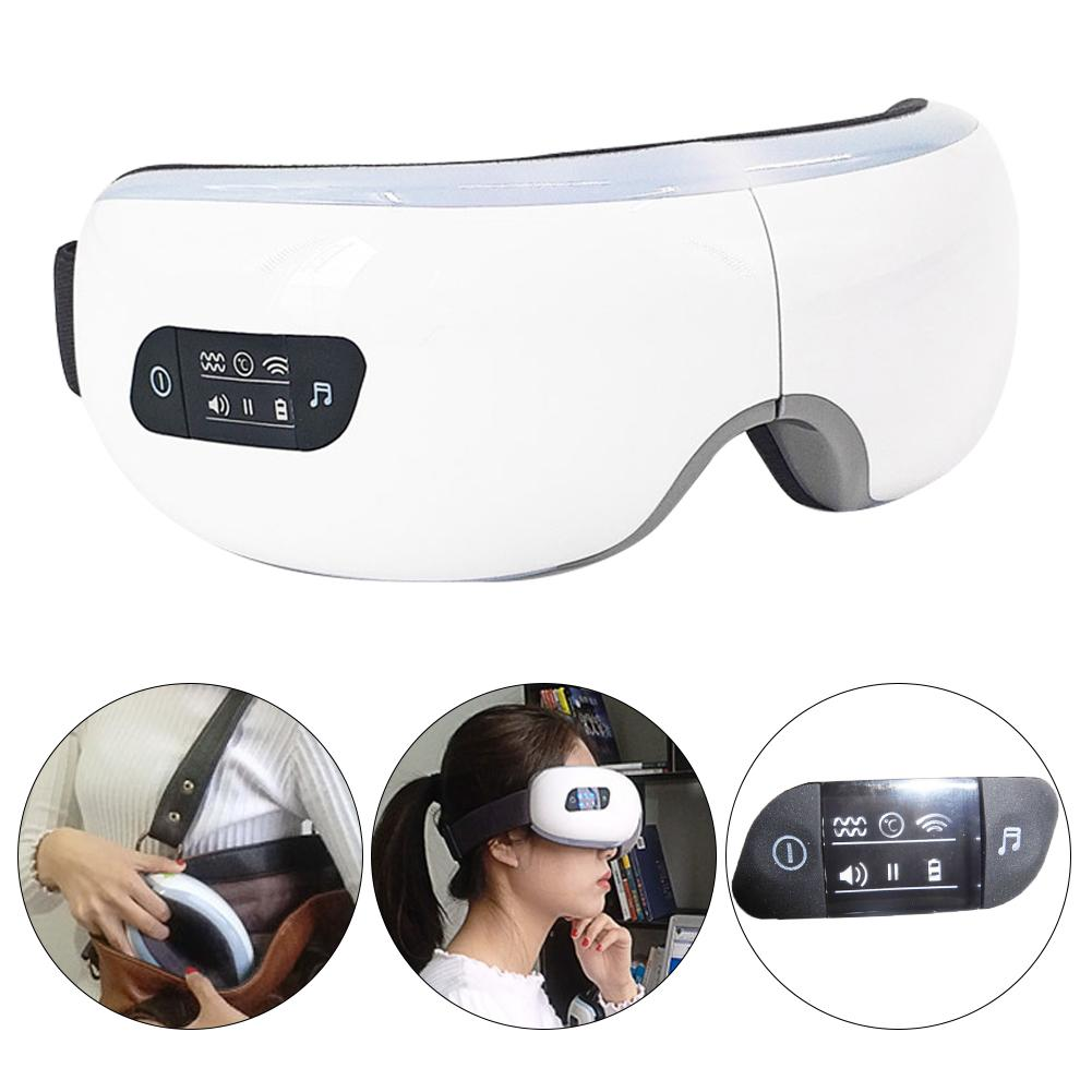 Portable Eye Massager Music Wireless USB Rechargeable Bluetooth Fordable Eye Massager SPA Beauty Instrument Therapy Massage цена и фото