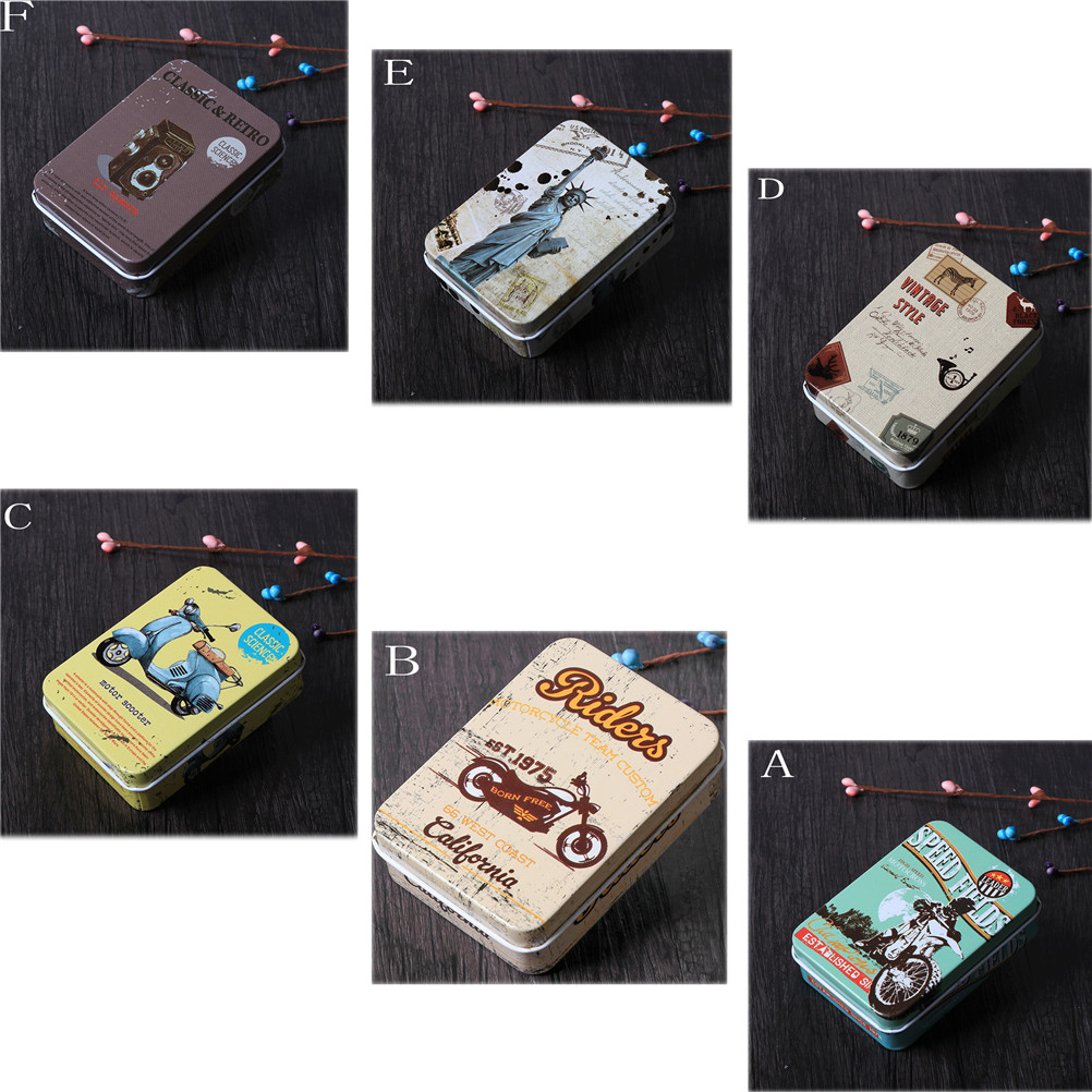 Mini Tin Metal Box Sealed Jar Packing Boxes Small Storage Cans Coin Earrings Headphones Gift Box Colorful Jewelry, Candy Box