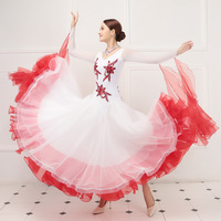 Леди подгонять Танцы платье для девочек Национальный Стандартный Одежда для танцев фламенко танец конкурс костюм Вальс Танго Костюм D 0365