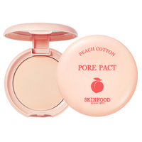 SKINFOOD Skin Food Peach Cotton Pore Pact 9g Pressed Powder Natural Mineral Face Contour Oil Control