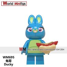 Singles Cartoon WM695 Ducky Athena Car Boy Cactus Girl Unicorn Boy Bubblegum Princess Building Blocks Children Toy Gifts(China)