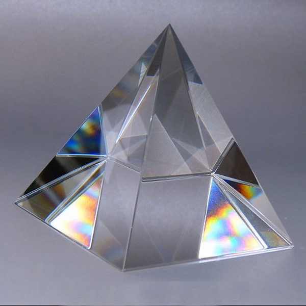 6CM K9 AAA Crystal Glass Pyramid Fermacarte in pietra naturale e 2.3 pollici minerali cristalli Fengshui Figurine Per Home Office Decor