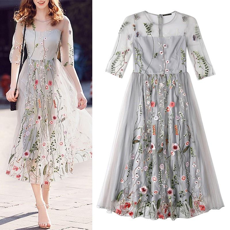 2018 Літні Нові Жіночі Плаття Шикарні - Жіночий одяг