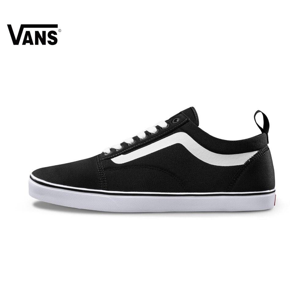 Originele Vans Nieuwe Collectie Zwart wit Kleur Lage mannen Skateboard  Schoenen Sportschoenen Sneakers gratis verzending in Originele Vans Nieuwe  Collectie ...
