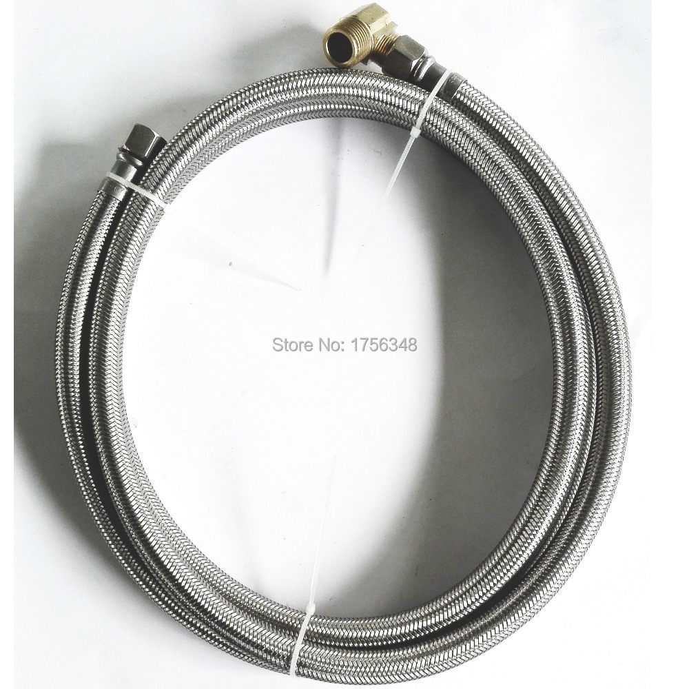 LF15010-72inch 3/8C*3/8C+90degree Elbow Flexible SS Diswasher Connector & SS braided con ...