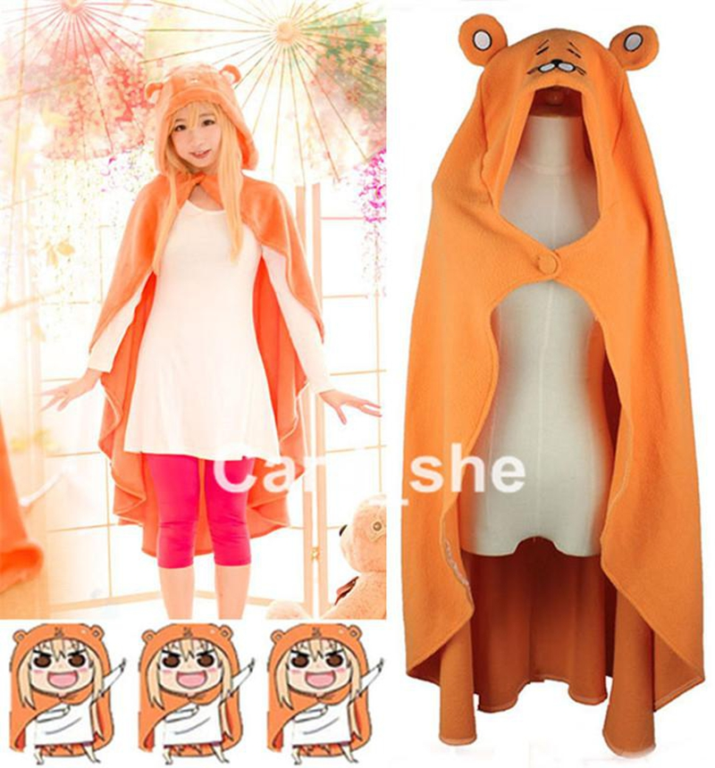 Anime Himouto! Umaru-chan Cosplay Cloak Kawaii Flannel Coat Daily Blanket Quilt shawl cape amice robe tippet wrap New
