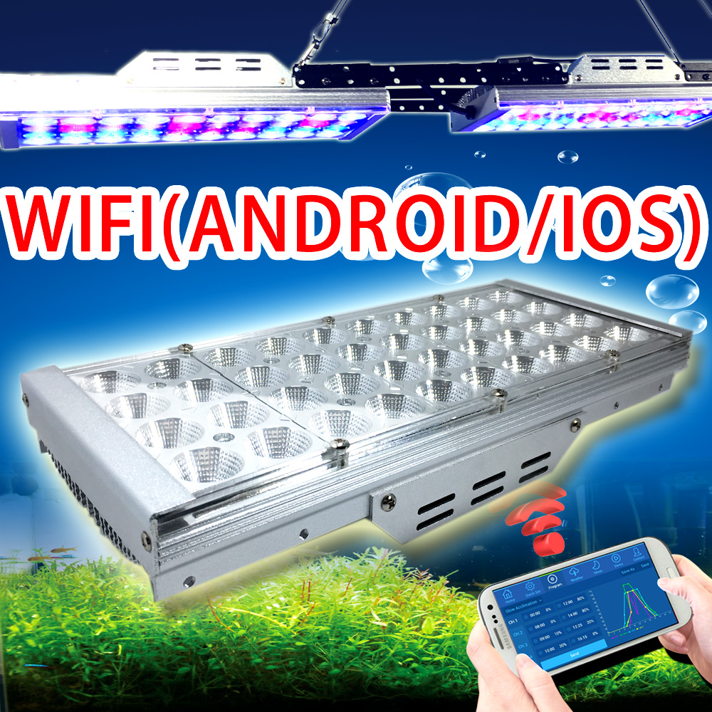 Fish aquarium lighting systems - Remote Controller System For Freshwater Fish And Plant Tank Led Aquarium Light With Wifi Support Ios