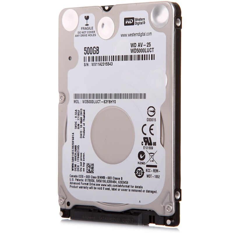 "WD5000LUCT 500G 2,5 ""überwachung Festplatte HDD HD Festplatte Notebook Laptop Monitor 16 M 5400 RPM 7mm FÜR DVR NVR CCTV"