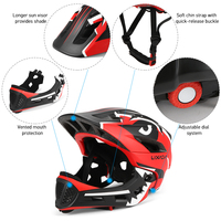 Lixada Cycling Kids Detachable Full Face Helmet Children Sports Safety Helmet for  Skateboarding Roller Skating